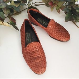 Cole Haan Brown Woven Braided Leather Loafer 7